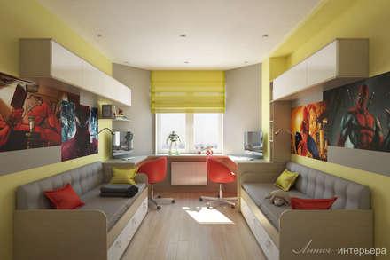 Habitaciones infantiles de estilo  por Студия дизайна 'Линия интерьера'