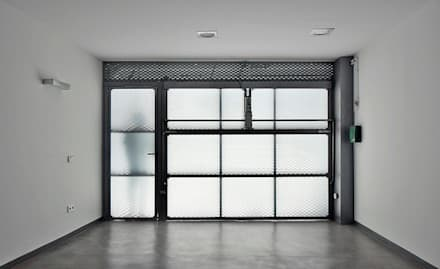 minimalistic Garage/shed by Vallribera Arquitectes