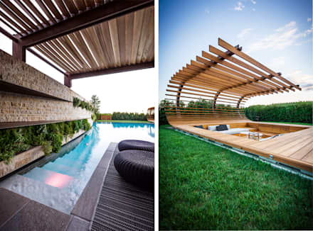 Garden Le Monde: modern Pool by Alessandro Isola Ltd