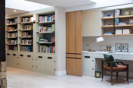 Richmond - Home Office / work area: modern Study/office by Roselind Wilson Design