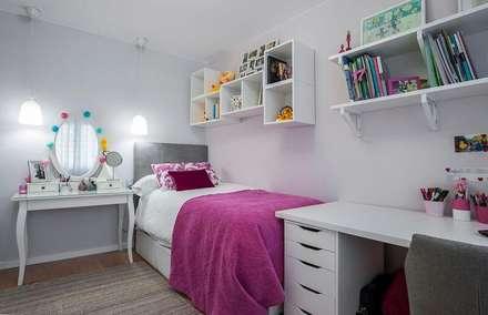REFORMA PISO EN A CORUÑA - DISEÑO ESTILO ESCANDINAVO: Dormitorios infantiles de estilo escandinavo de GESTION INTEGRAL DE PROYECTOS DEL NOROESTE S.L.