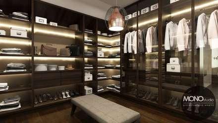 Closets de estilo minimalista por MONOstudio