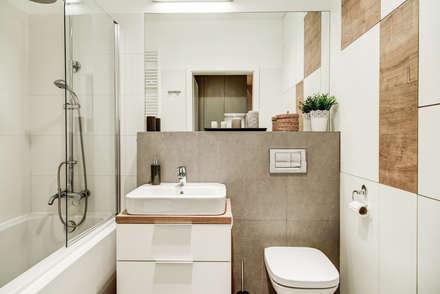2-pokojowy apartamencik: styl , w kategorii Łazienka zaprojektowany przez Perfect Space