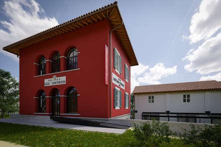 Case Cantoniere Anas: Negozi & Locali commerciali in stile  di Chromatika Multimedia