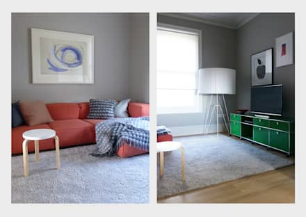 Town House, Sussex.: classic Media room by CHALKSPACE