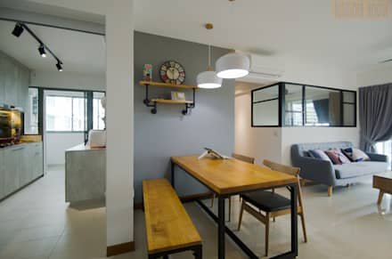 Punggol Waterway Brooks BTO: minimalistic Dining room by Designer House