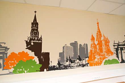 """Технопарк """"Строгино"""", оформление стен: Офисные помещения в . Автор – 33dodo"""