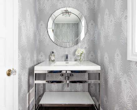Powder Room: modern Bathroom by Clean Design