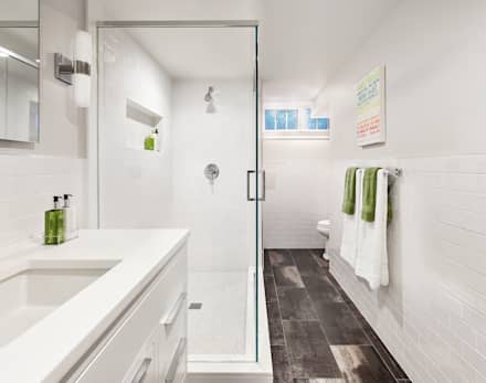 Basement Bath: modern Bathroom by Clean Design