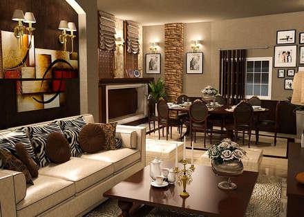 Apartment :  غرفة السفرة تنفيذ Taghred elmasry