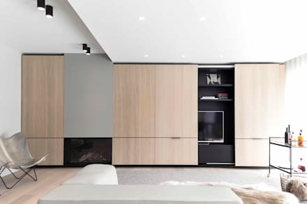 Project K: moderne Woonkamer door JUMA architects