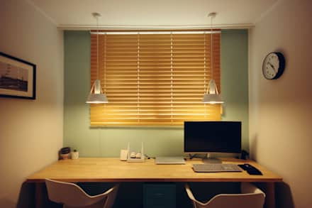 Oficinas de estilo minimalista por homelatte