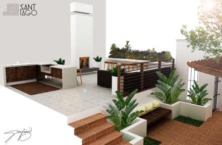 terraza terrazas de estilo por santago y diseo with terrazas