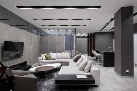 Номинация новаторство: интерьер квартиры от 150 м: modern Living room by Archiprofi