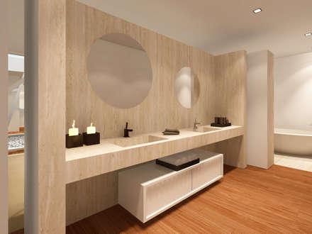 Baños de estilo ecléctico por GRAU.ZERO Arquitectura