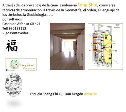 Estudio Casco Vello .Vigo: Estudios y despachos de estilo ecléctico de Feng Shui El Ocho Mágico