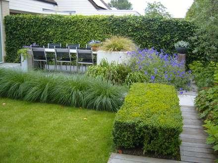 Moderne tuin in Franeker: moderne Tuin door Joke Gerritsma Tuinontwerpen