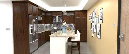 Cocina: Cocinas de estilo moderno por Atahualpa 3D