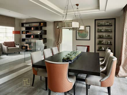Dining room and nook area: modern Dining room by Tailored Living Interiors