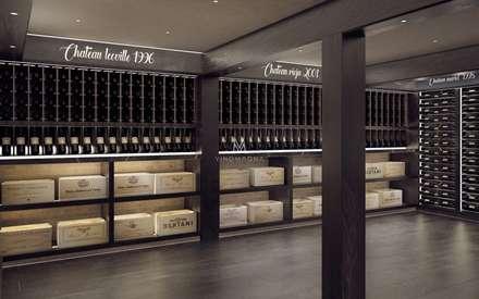 Custom Wine Cellar Display: rustic Wine cellar by Vinomagna - Bespoke Wine cellars
