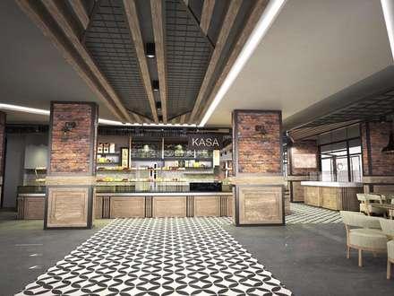 vAvien İç Mimarlık – Sivas / amade restaurant cafe: kırsal tarz tarz Yemek Odası
