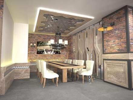 vAvien İç Mimarlık - Sivas / amade restaurant cafe: kırsal tarz tarz Yemek Odası