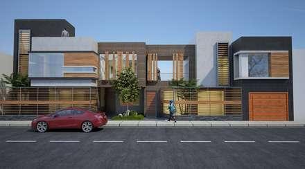 vivienda bifamiliar: Casas de estilo moderno por diseño integral y construcción sac