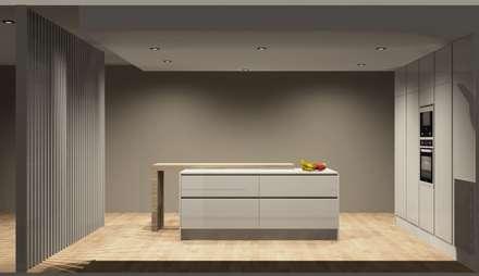 Cozinhas: Cozinhas modernas por Amplitude - Mobiliário lda