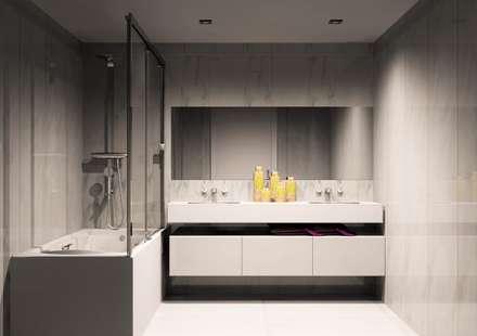 Movel de banho: Casas de banho modernas por Amplitude - Mobiliário lda