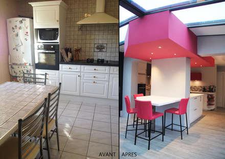Extension et rénovation d'une maison à Saint Cyr: Cuisine de style de style Moderne par Koya Architecture Intérieure