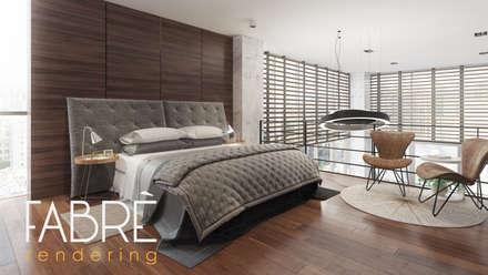 LOFT - ELEGANCIA: Dormitorios de estilo  por FABRE RENDERING
