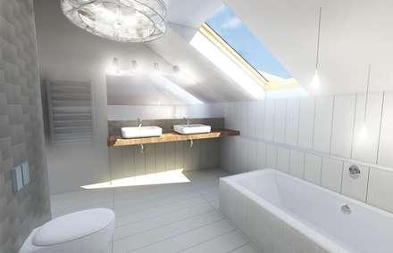 Scandinavische badkamer idee n homify - Plan ouderslaapkamer met badkamer en kleedkamer ...