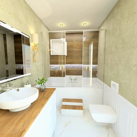 vAvien İç Mimarlık – Country house : kırsal tarz tarz Banyo