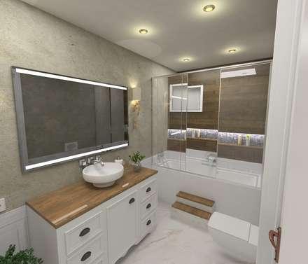 Murat Aksel Architecture – Country house : kırsal tarz tarz Banyo