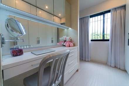 Apartamento 8E: Cuartos de estilo moderno por Objetos DAC