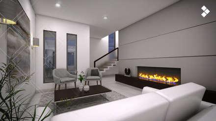 Sala: Salas de estilo moderno por CDR CONSTRUCTORA
