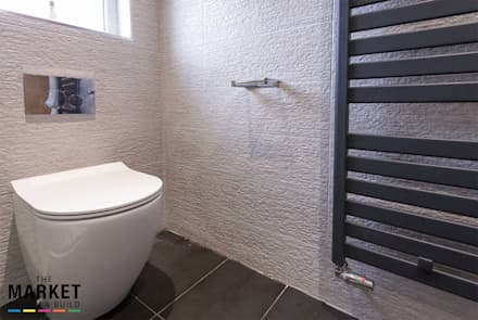 Toilet and Radiator: modern Bathroom by The Market Design & Build