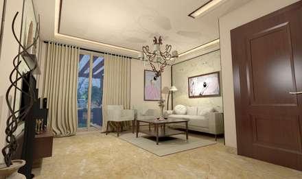 غرفة المعيشة تنفيذ Ain Designs Studio