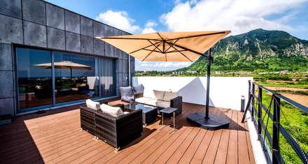 3층 객실 Type-1 테라스: SG internatinal의  발코니, 베란다 & 테라스