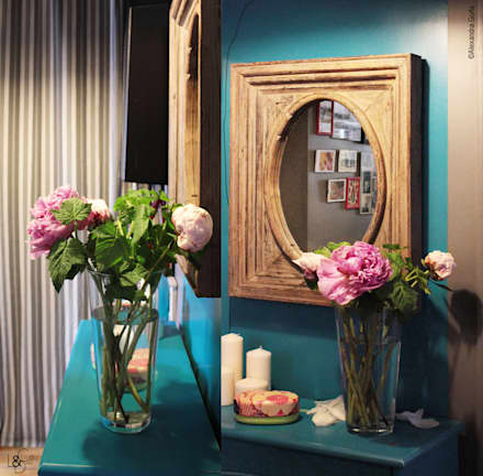 Entrée: Couloir et hall d'entrée de style  par LD&CO.Paris 'La Demoiselle et la Caisse à Outils'