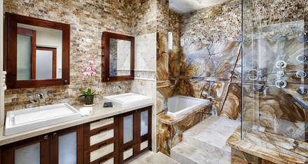 Markatas – Doğal Taş İç Cephe Uygulamaları: modern tarz Banyo