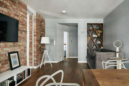 : modern Living room by BLACKHAUS