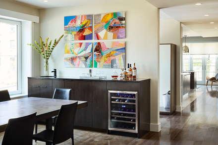 Carroll Street: modern Dining room by M Monroe Design