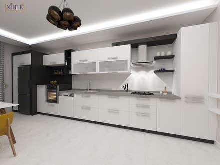 nihle iç mimarlık – Ergun İnşaat Örnek Daire: modern tarz Mutfak