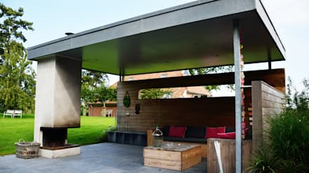 Landelijke tuin Winsum: landelijke Tuin door KLAP tuin- en landschapsarchitectuur