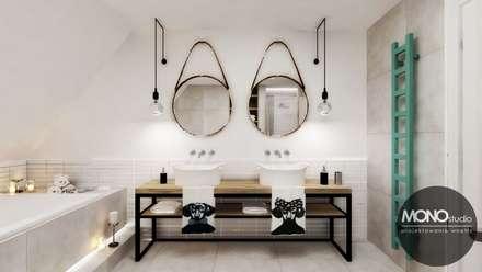 Łazienka w stylu skandynawskim: styl , w kategorii Łazienka zaprojektowany przez MONOstudio