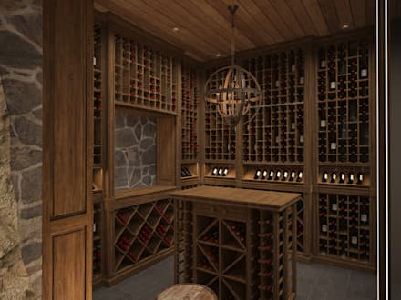 colonial Wine cellar by Архитектура Интерьера