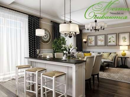 Разумное использование пространства: Столовые комнаты в . Автор – Компания архитекторов Латышевых 'Мечты сбываются'
