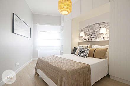 Apartamento da Alegria: Quartos escandinavos por Homestories