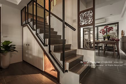 Corridor & hallway by 大不列顛空間感室內裝修設計